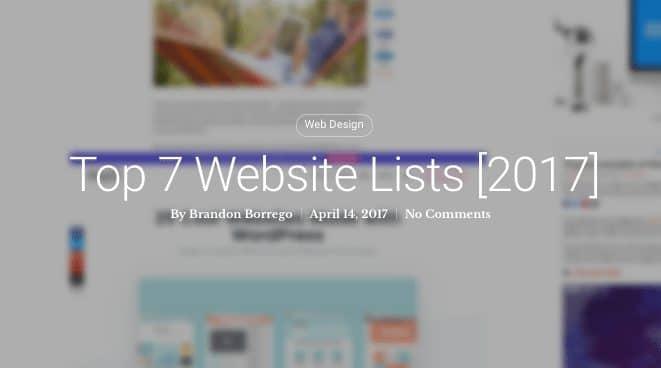 Top 7 Website Lists Thumbnail