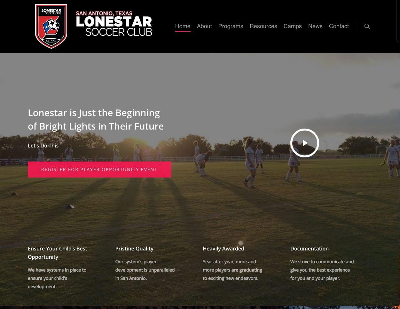 Lonestar Soccer New site