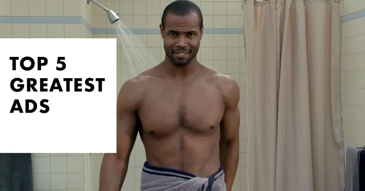 Top 5 Greatest Ads Thumbnail with Funny Showering Actor